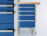 betriebseinrichtungen - cubio fahrbare werkbank mit schubladen